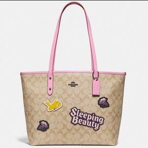 BNWT Coach Disney X sleeping beauty tote